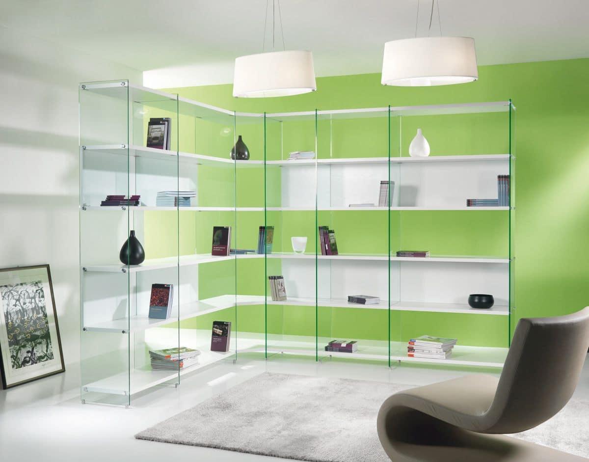 Libreria angolare dal design minimale byblos comp 01 for Architecture minimale