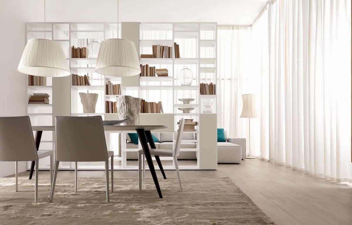 Libreria bifacciale per salotti moderni e sale da pranzo for Mobili per sala da pranzo moderni