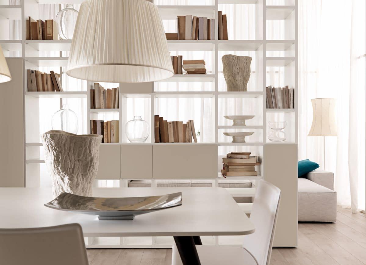 Libreria bifacciale per salotti moderni e sale da pranzo for Salotti moderni