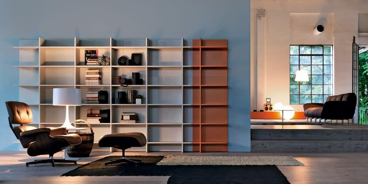 Libreria componibile adatta per ambienti moderni idfdesign for Ambienti moderni