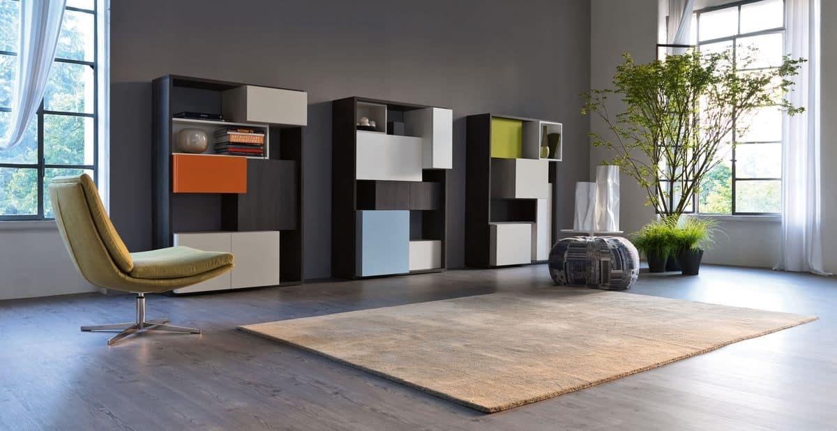 Soggiorno Libreria Moderno ~ Idee per il design della casa