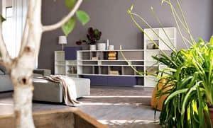 Citylife 31, Libreria componibile adatta per salotti moderni