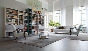 Citylife 35, Liibreria modulare moderna, per ambienti residenziali