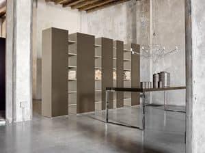 CODE comp.01, Libreria pregiata, con porte, per hotel di lusso
