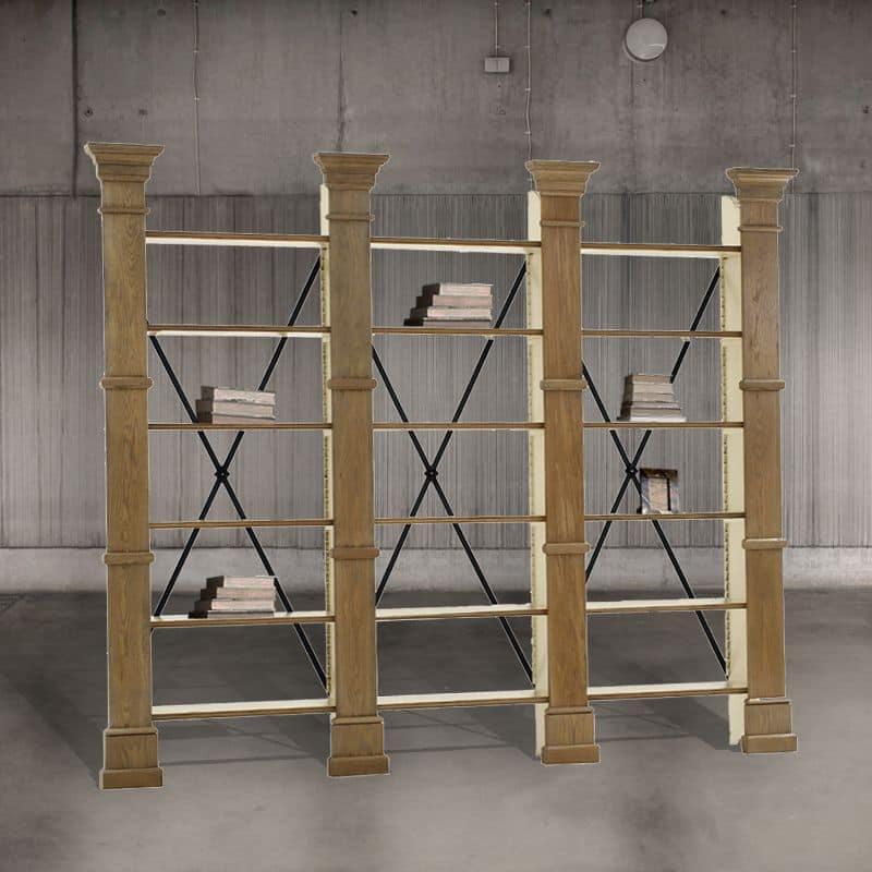 DB001623, Libreria in rovere per salotto - IDFdesign