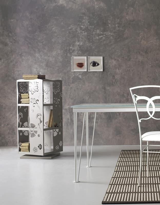 Libreria girevole bianca trattamento marmo cucina - Mobilandia outlet torino ...
