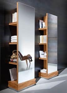 Diamante Art. 38.760, Libreria con specchiera, fatta in legno di noce