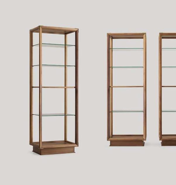 Libreria bifacciale con piani in vetro | IDFdesign