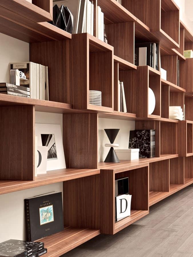 Parete attrezzata, libreria modulare per casa e ufficio  IDFdesign