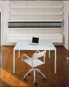 Elle System Office, Libreria in metallo laccato, modulare, ideale per biblioteche e uffici