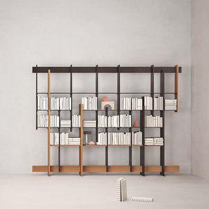 F.T.B., Libreria in legno di iroko
