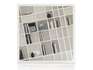Giano Kompact, Librerie laccato bianco, eleganti e moderne, per salotti
