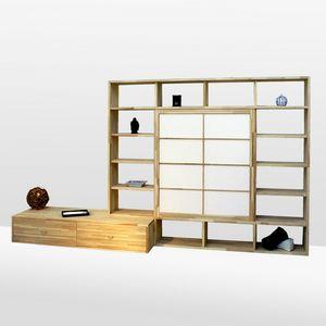Haru-B, Libreria in faggio, realizzata su misura