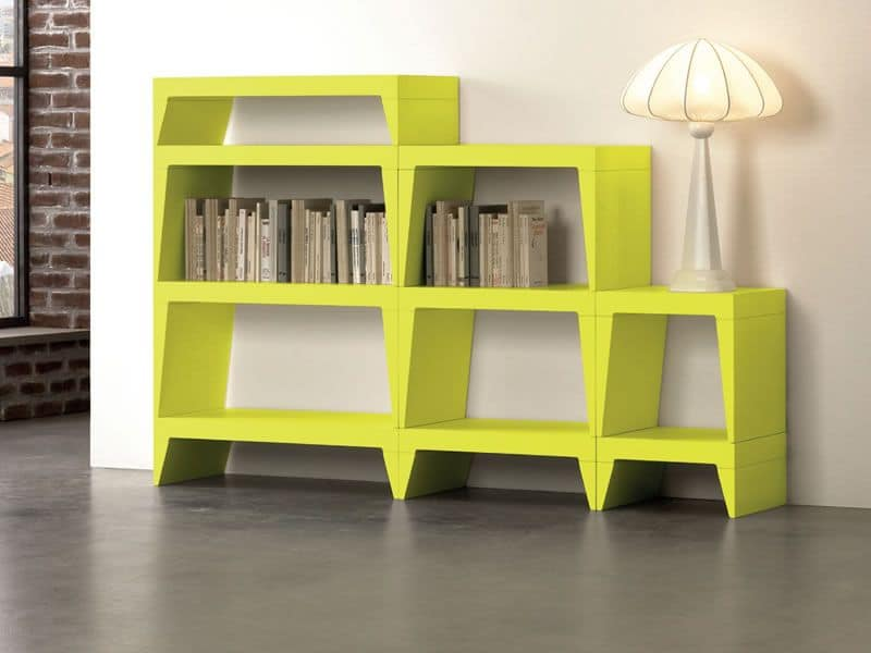 Herbert, Libreria modulare moderna ideale per salotti