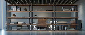 Ironwood libreria Eucalipto, Libreria componibile, con piani in Eucalipto
