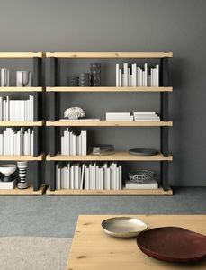 Ironwood libreria Rovere Jupiter, Libreria modulare con piani in rovere jupiter
