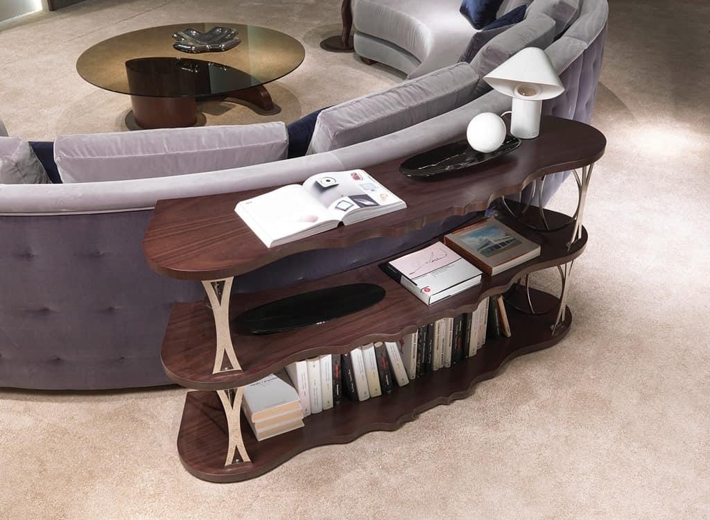 Libreria da retro divano, con mensole curve | IDFdesign