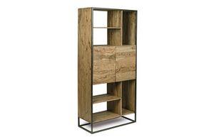 Libreria 2A Egon, Libreria minimale con struttura in acciaio