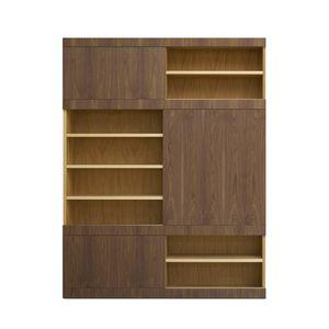 Maschera FS3510599, Libreria in legno, con  ante scorrevoli