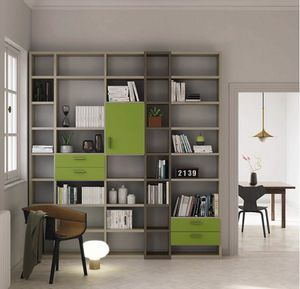 Modular � Mood 3, Libreria componibile con cassetti