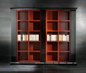 Museum Art. 31.002, Libreria in tiglio laccato con 3 colonne