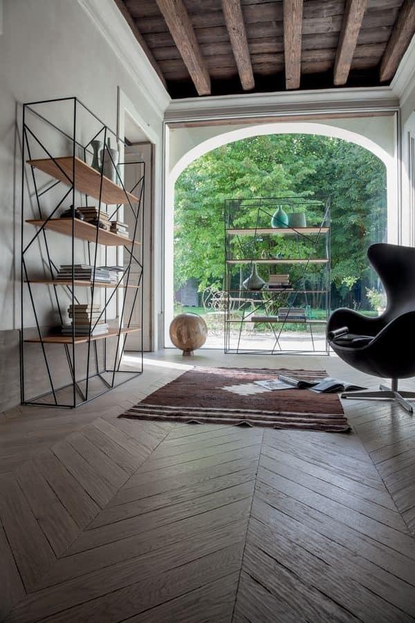 Libreria in tondino laccato e vetro per l 39 ufficio moderno for Design moderni della casa di vetro