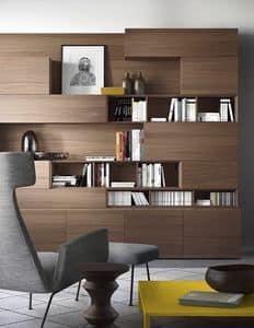 People P208, Libreria modulare, con illuminazione integrata