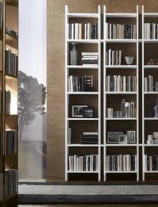 Piolo libreria, Libreria design, con vani aperti, per uffici e salotti
