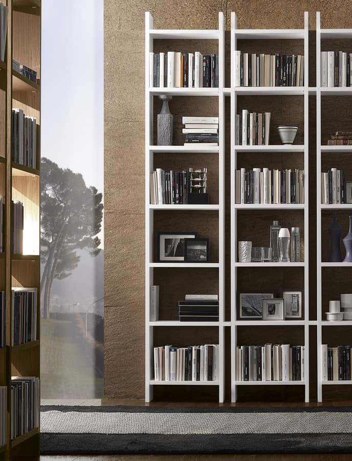 Libreria design con vani aperti per uffici e salotti for Librerie design outlet
