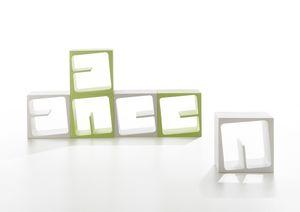 Quby, Libreria modulare in materiale plastico