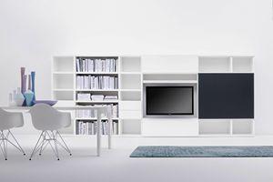 SCENAPERTA, Libreria modulare per soggiorni moderni