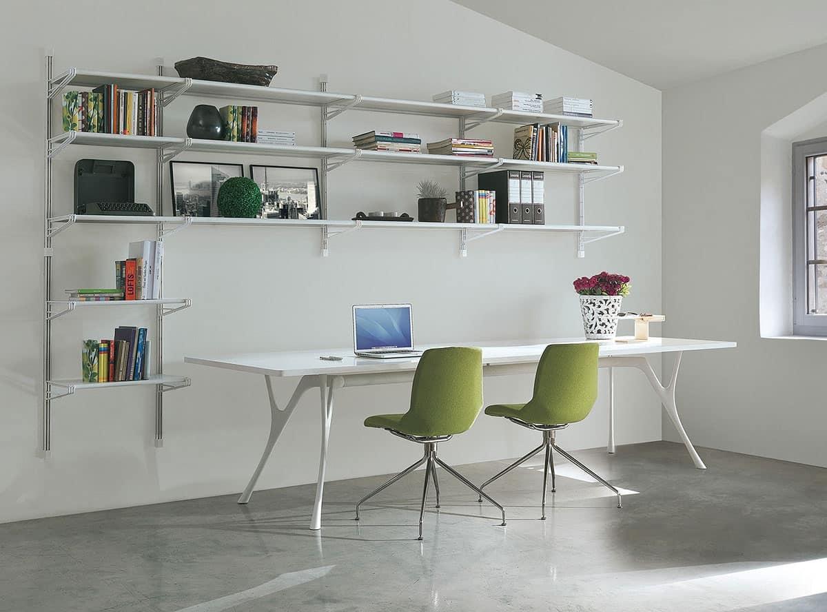 Socrate home-office, Libreria in metallo e vetro, varie finiture