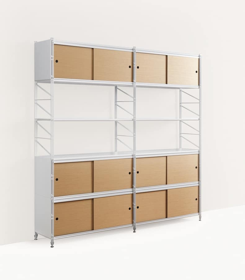 Socrate libreria, Libreria modulare in metallo, per uffici e case moderne