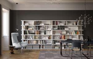 Spazioteca SP028, Libreria sospesa ideale per ambienti moderni
