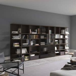 Spazioteca SP017, Libreria modulare fatta su misura,  per uso professionale
