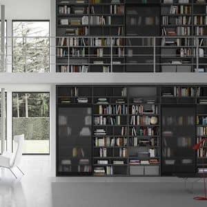 Spazioteca SP018, Libreria modulare, in stile moderno, per ufficio
