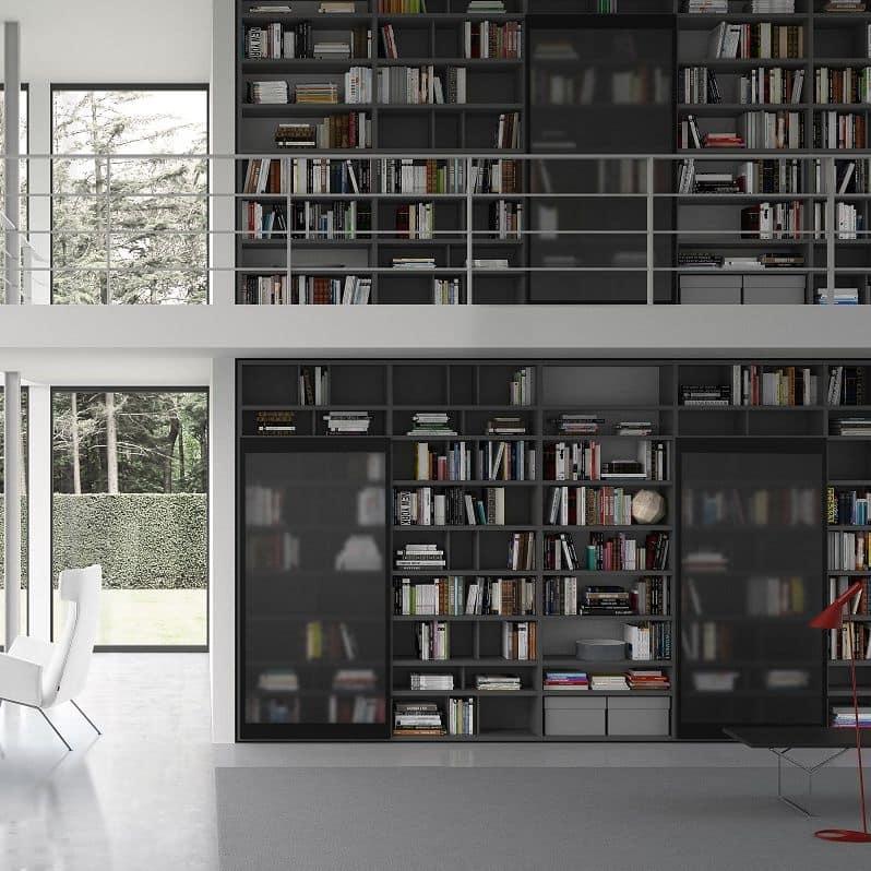 Libreria modulare in stile moderno per ufficio idfdesign for Libreria modulare