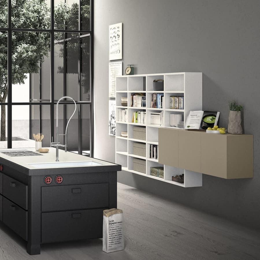 Libreria modulare in legno fatta su misura per ufficio for Libreria modulare
