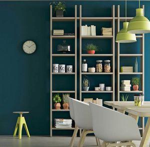 Step � Mood 4, Libreria in legno dal design minimal