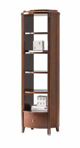 Vendome etagere, Etagere in legno con cassetto