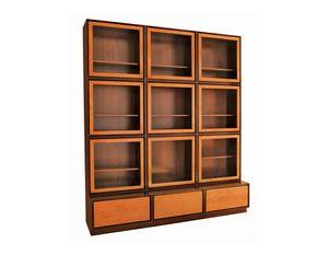 Zero FS3410170, Libreria con ante in vetro