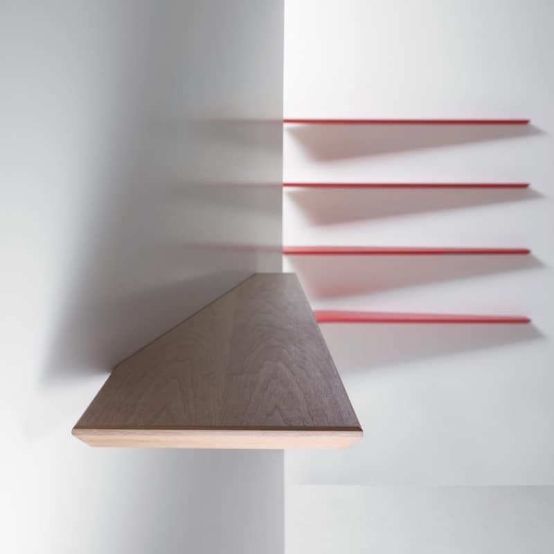 Mensola da parete dal design minimale colori primari - Mensole cucina moderna ...