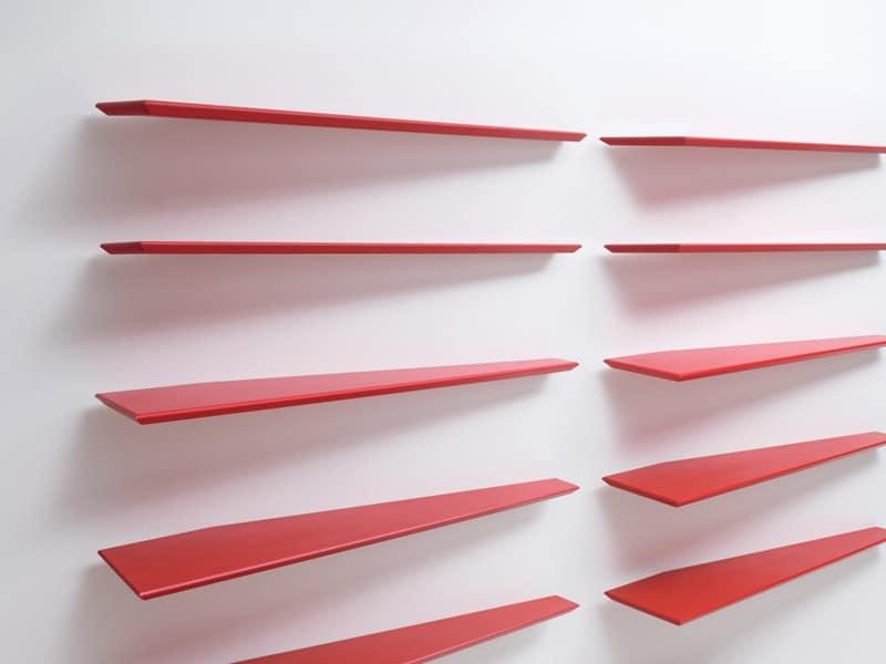 Mensola da parete dal design minimale colori primari idfdesign - Mensole da parete design ...