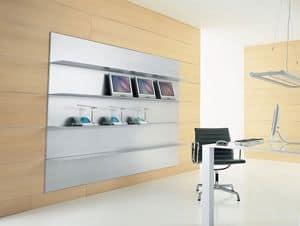 ALL comp.02, Mensola lineare in alluminio estruso, per sala lettura