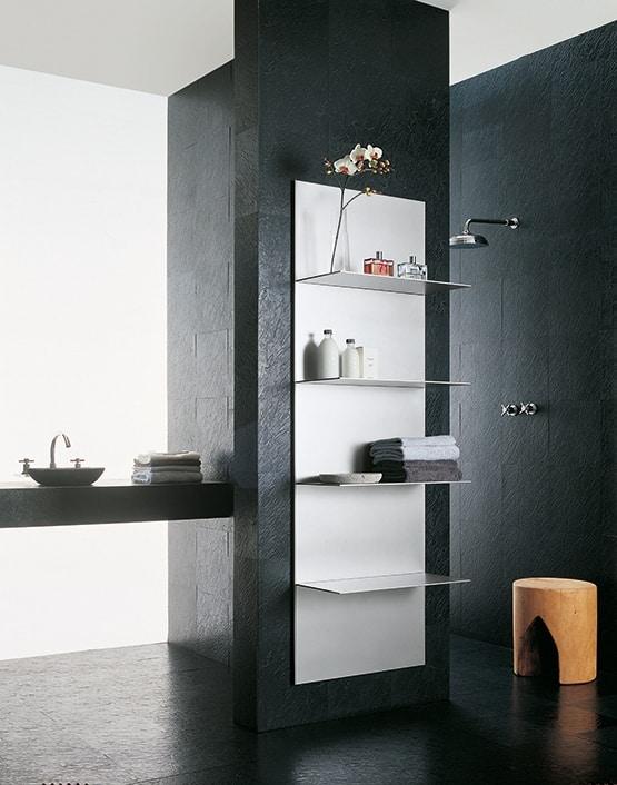 ALL comp.04, Mensole in alluminio estruso, varie finiture, per bagno