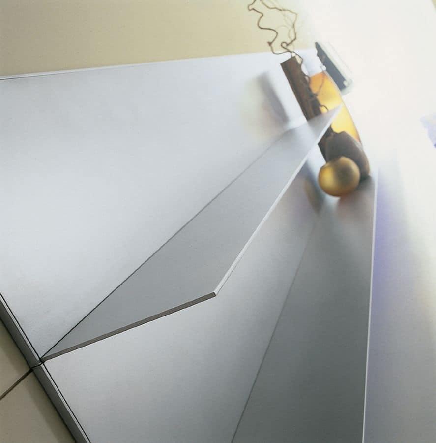 ALL comp.06, Mensole in alluminio per la casa, linee semplici, sottili