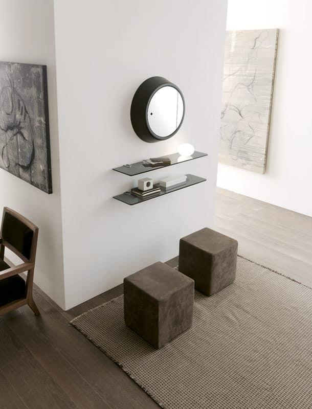 Mensole per libri in cristallo per studio professionale idfdesign - Mensole bagno plexiglass ...