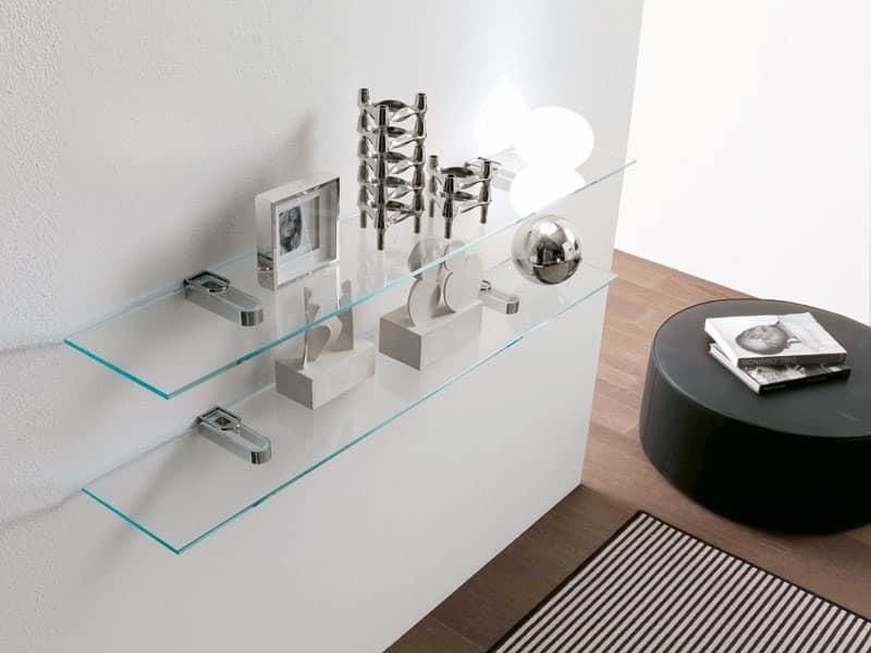 Mensole Soggiorno Design: Mensola design gemma in vetro curvato ...