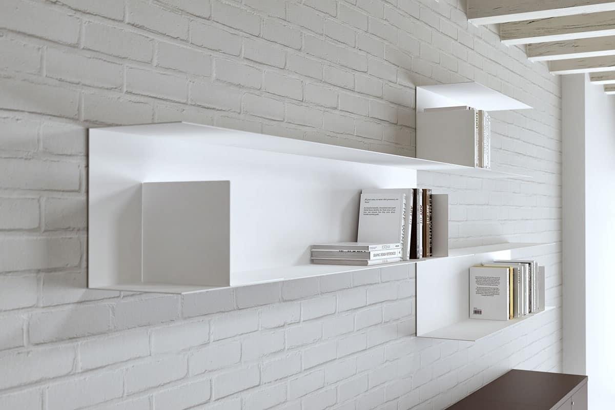 Libreria modulare in acciaio per la casa e l ufficio idfdesign