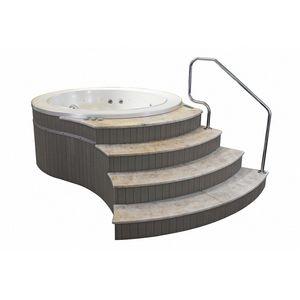 Canaria Freestanding, Mini-piscina freestanding, rivestita in rovere grigio